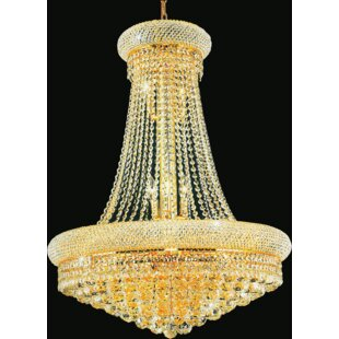 Andres 19-Light Crystal Chandelier by Rosdorf Park