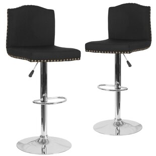 Wauseon Adjustable Height Swivel Bar Stool (Set Of 2) by Winston Porter Looking for