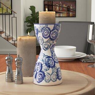 Clay Pillar Ceramic Candlestick