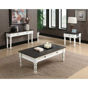 Beachcrest Home Mulford 3 Piece Coffee Table Set