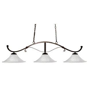 Fleur De Lis Living Bianca 3-Light Pool Table Lights Pendant
