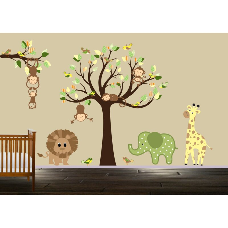 Endres Jungle Animals Wall Decal  sc 1 st  Wayfair & Harriet Bee Endres Jungle Animals Wall Decal | Wayfair