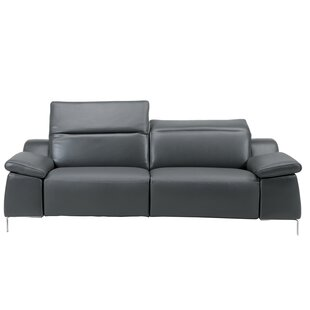 Dionne Leather Reclining Sofa by Orren Ellis