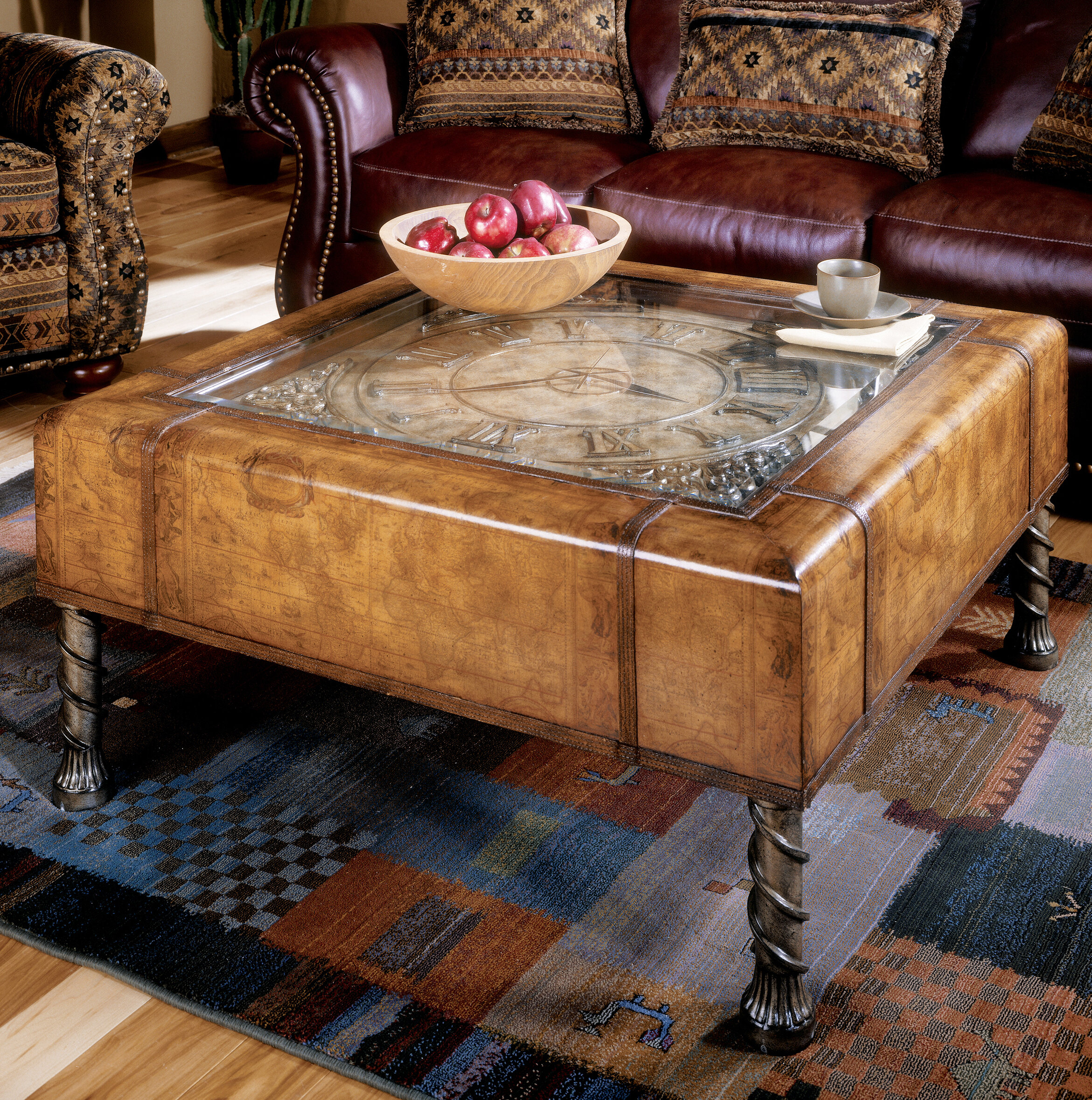 Marvelous Hobson Clock Coffee Table Home Remodeling Inspirations Propsscottssportslandcom