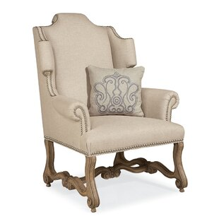 One Allium Way Errol Exposed Wood Wingback Chair