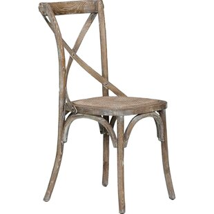 Spoon Solid Wood Dining Chair (Set of 2) Gracie Oaks