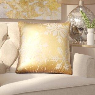 Epping Snowflakes Cotton Throw Pillow