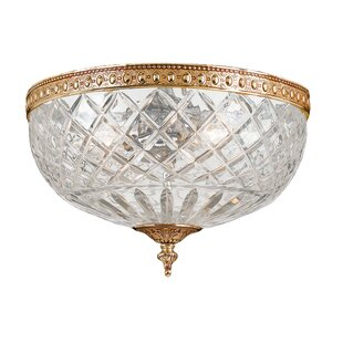 House of Hampton Aureolin 2-Light Flush Mount