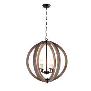 Gracie Oaks Azriel 4-Light Globe Chandelier