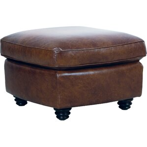 Clairsville Leather Ottoman by..