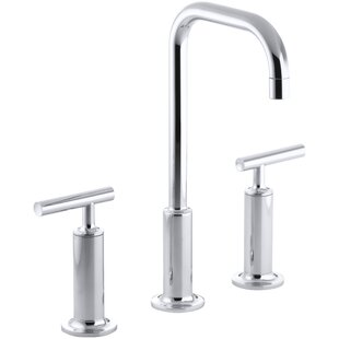 Kohler Purist Widespread Bathroom Faucet with Drain Assembly