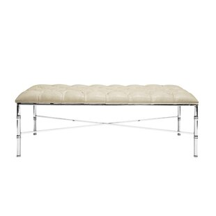 Worlds Away Bamboo Upholstered Bench