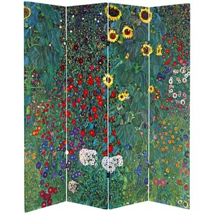 Affordable Jamaica Avenue Tannenwald Farm Garden 4 Panel Room Divider By August Grove