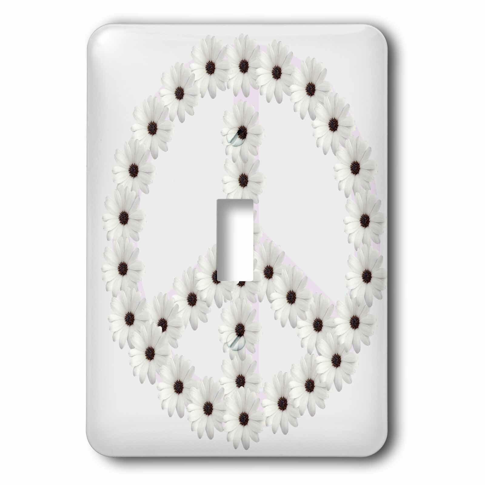 3drose Flower Peace Sign 1 Gang Toggle Light Switch Wall Plate Wayfair