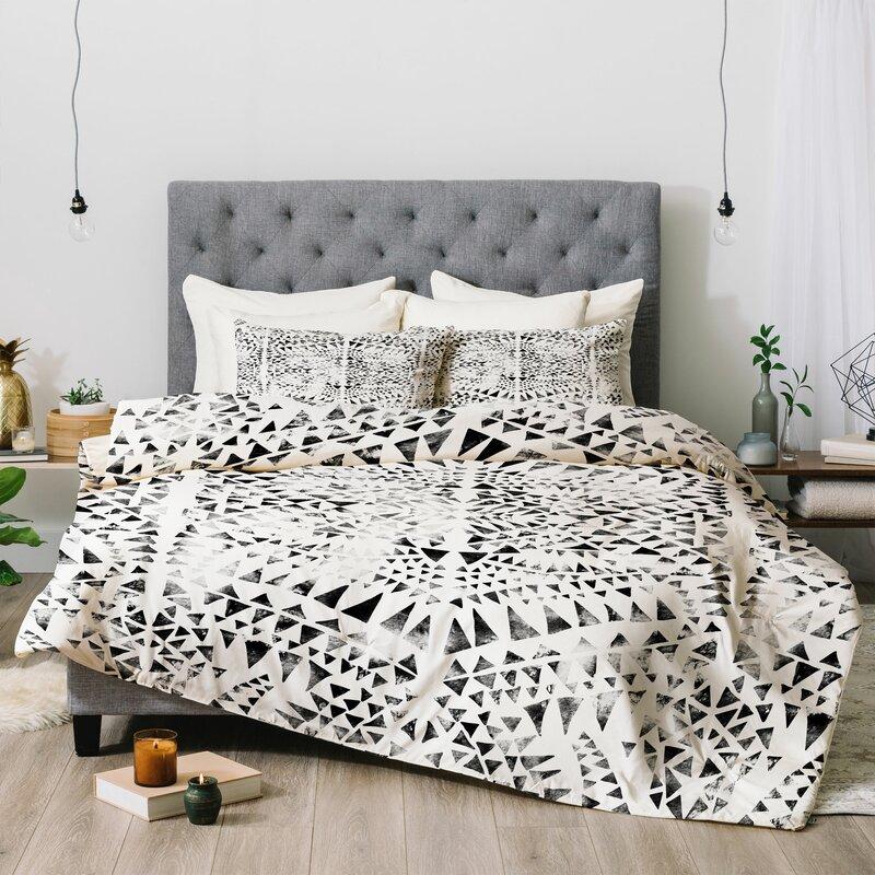 East Urban Home Schatzi Tribal Triangles Comforter Set (Set of 2)
