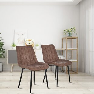 Placencia Tufted Cotton Wingback Dining Chair Set of 2 by 17 Stories