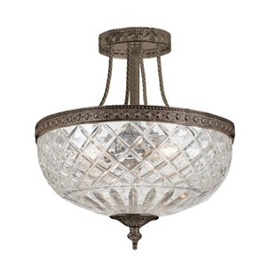 Milan 3-Light Semi Flush Mount by House of Hampton