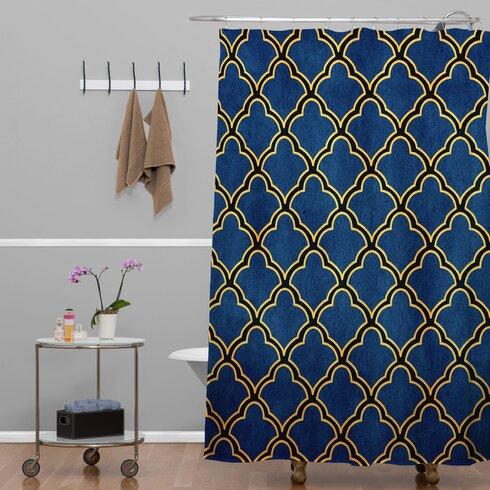 Carrion Quatrefoil Shower Curtain