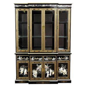 Lacquer Lighted China Cabinet by Oriental Furniture