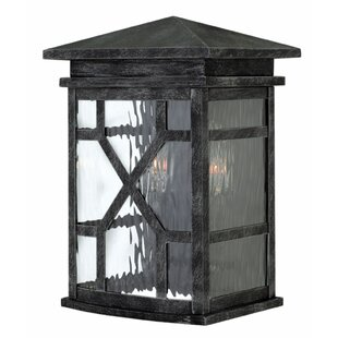 Comparison Clayton 2-Light Outdoor Wall lantern By Hinkley Lighting