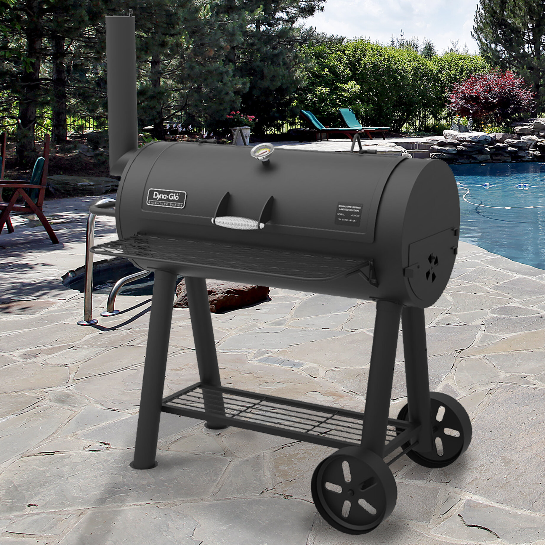 Charcoal grills youll love wayfair heavy duty barrel charcoal grill dailygadgetfo Image collections