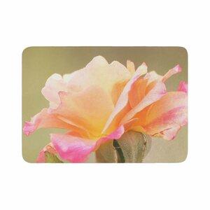 Sylvia Coomes Rose in Full Bloom Floral Memory Foam Bath Rug