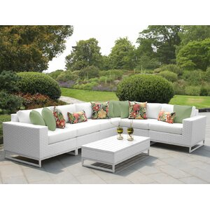 Miami 7 Piece Sectional Seating Group with Cushions