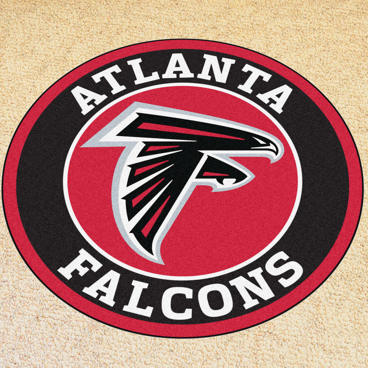 Fanmats nfl atlanta falcons roundel mat wayfair for Best brand of paint for kitchen cabinets with atlanta falcons wall art
