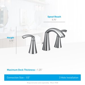 Glyde Standard Bathroom Faucet Double Handle