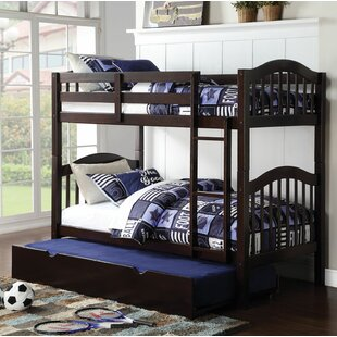 Deals Beeching Twin over Twin Bunk Bed with Trundle by Harriet Bee Reviews (2019) & Buyer's Guide