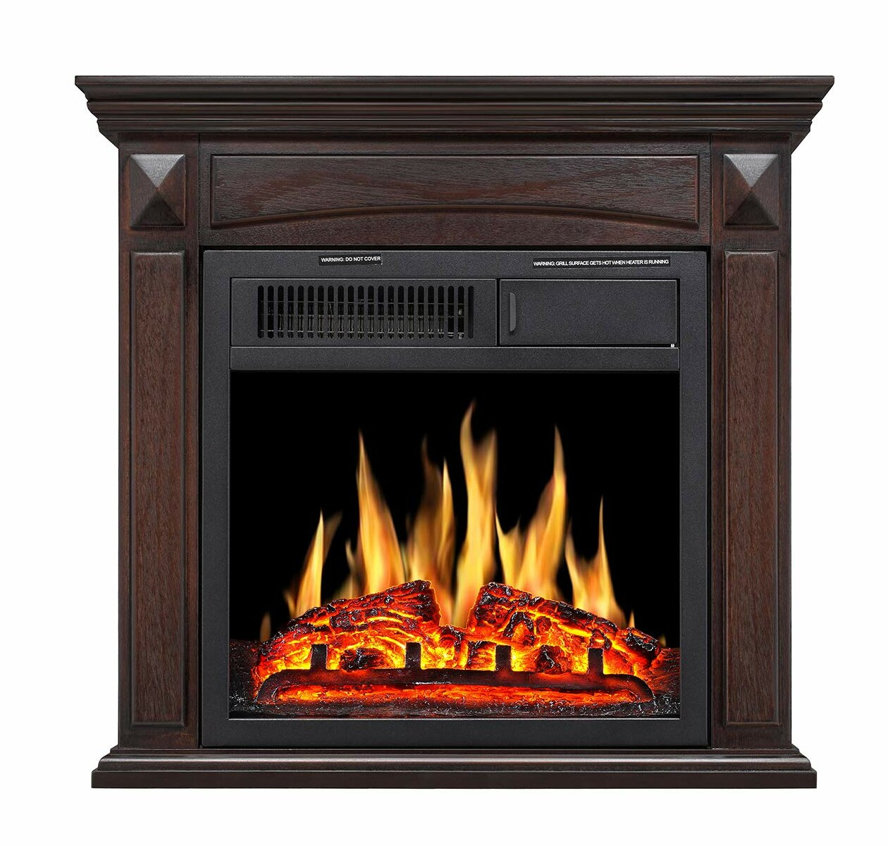 Charlton Home Swedish Hill Mantel Wooden Electric Fireplace