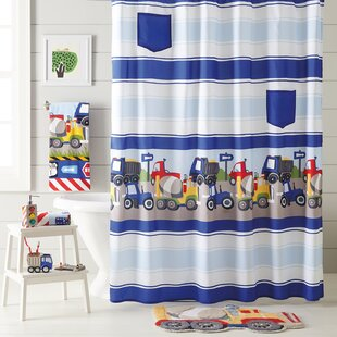 Inexpensive Kaylie Trucks Shower Curtain ByZoomie Kids