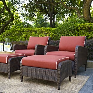Mosca Traditional 4 Piece Conversation Set with Cushions