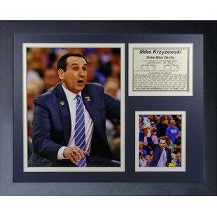 Mike 'Coach K' Krzyzewski Framed Memorabilia By Legends Never Die