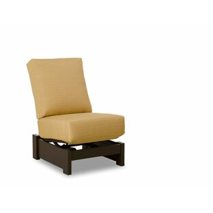 Leeward Marine Grade Polymer Deep Armless Single-Seat Patio Chair with Cushions