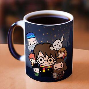 Harry Potter - Hogwarts Chibi Ron Hermione Dumbledore Hagrid Heat Reveal Coffee Mug