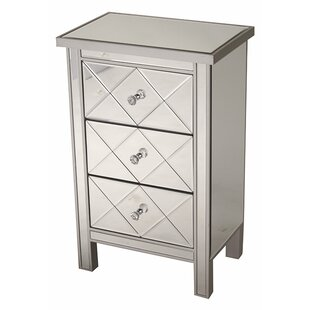 Willa Arlo Interiors Channelle 3 Drawer Accent Chest