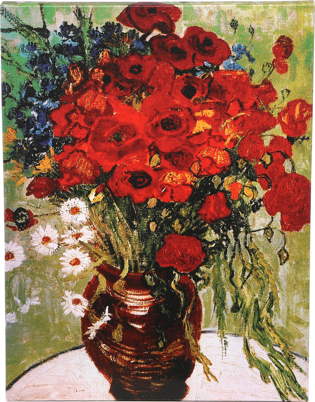Trademark Art Daisies Amp Poppies By Vincent Van Gogh