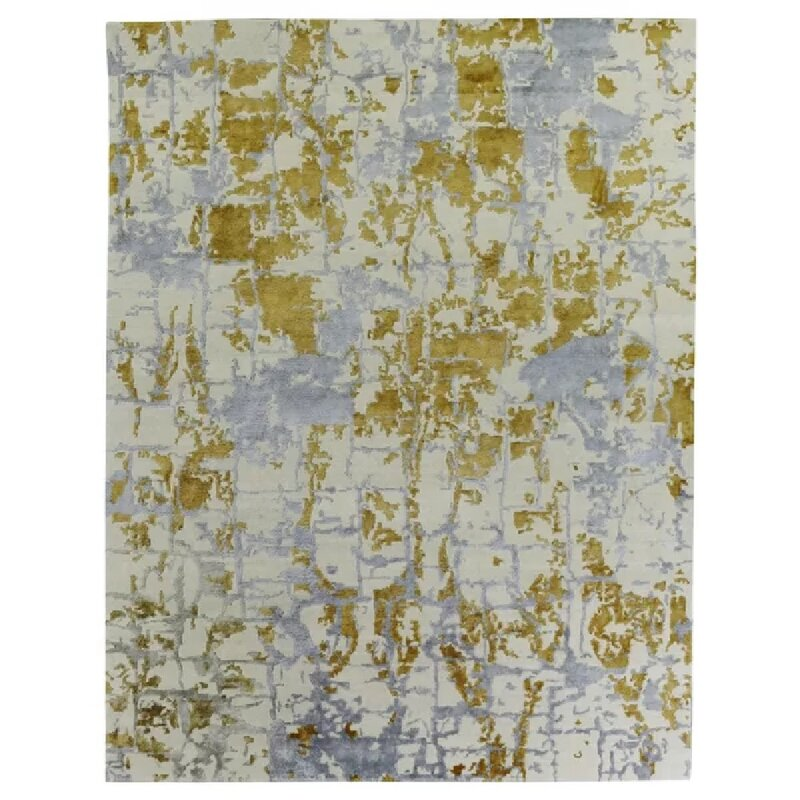 Exquisite Rugs Cecily Abstract Hand Knotted Green Blue White Area Rug Wayfair