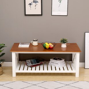 Martello Solid Wood Coffee Table with Storage