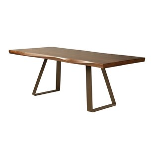Pressley Maple Sculpted Edge Solid Wood Dining Table Union Rustic