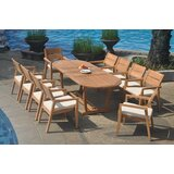 Crewellwalk 11 Piece Teak Dining Set