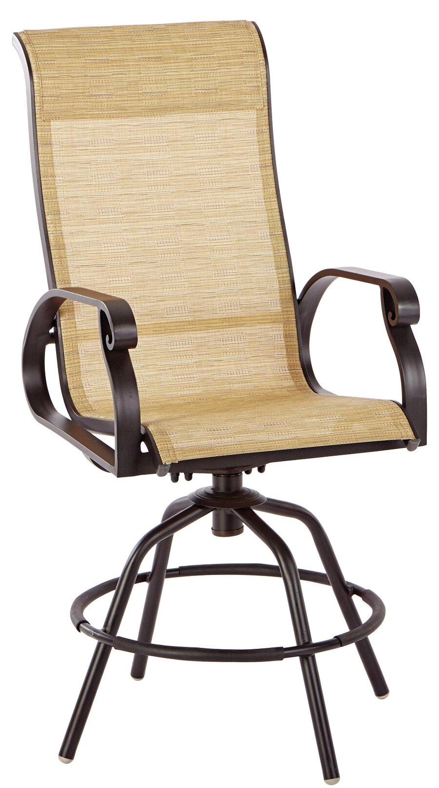 Charlton Home Whipton Swivel Patio Dining Chair Wayfair