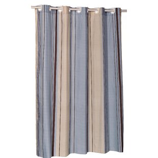 Allenwood Stripes Single Shower Curtain by Red Barrel Studio Wonderful