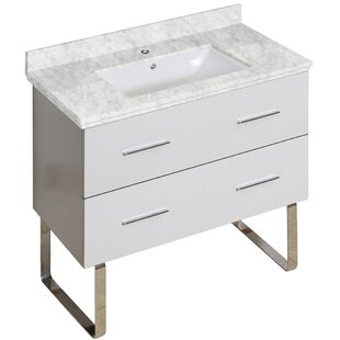 Xena Plywood-Melamine 35 Single Bathroom Vanity Base by American Imaginations