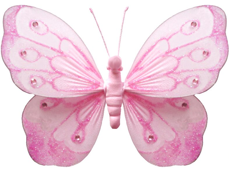 Harriet Bee Kristopher Butterfly Hanging Shimmer Nylon 3D Wall Decor ...