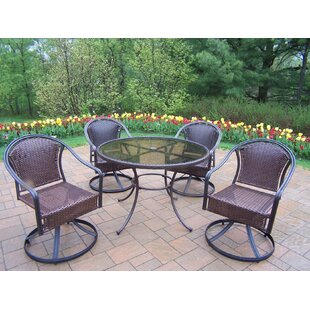 Rosecliff Heights Kingsmill 5 Piece Steel Frame Patio Set