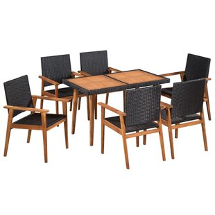Battaglia 6 Seater Dining Set By Sol 72 Outdoor
