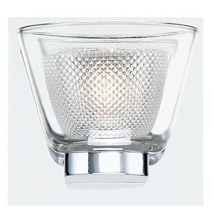 Darby Home Co Seminole Double Glass 1-Light LED Bath Sconce