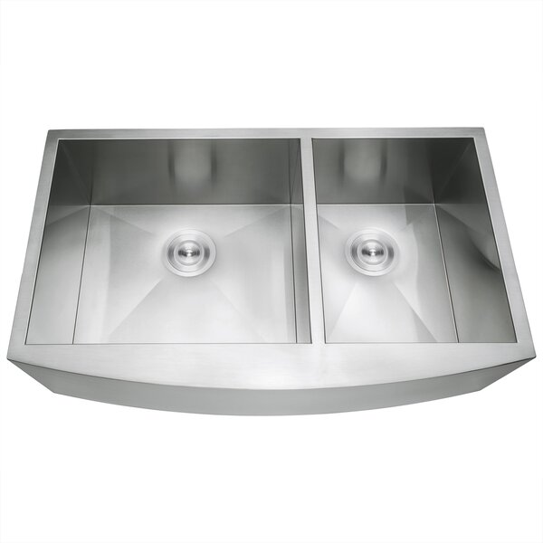33 X 22 Farmhouse Apron Stainless Steel Double Bowl 6040 Kitchen Sink W Dish Grid And Drain Strainer Kit